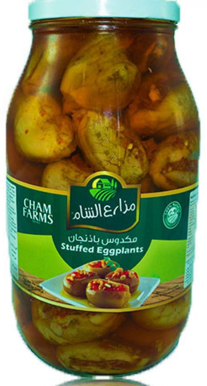 Cham Farms Eingelegte Auberginien (Makdous) 3,2kg مكدوس مزاع الشا م