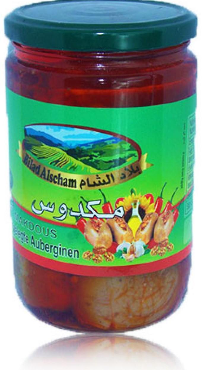 Bilad Alscham Eing. Auberginien  (Makdous)  600g مكدوس بلاد الشام