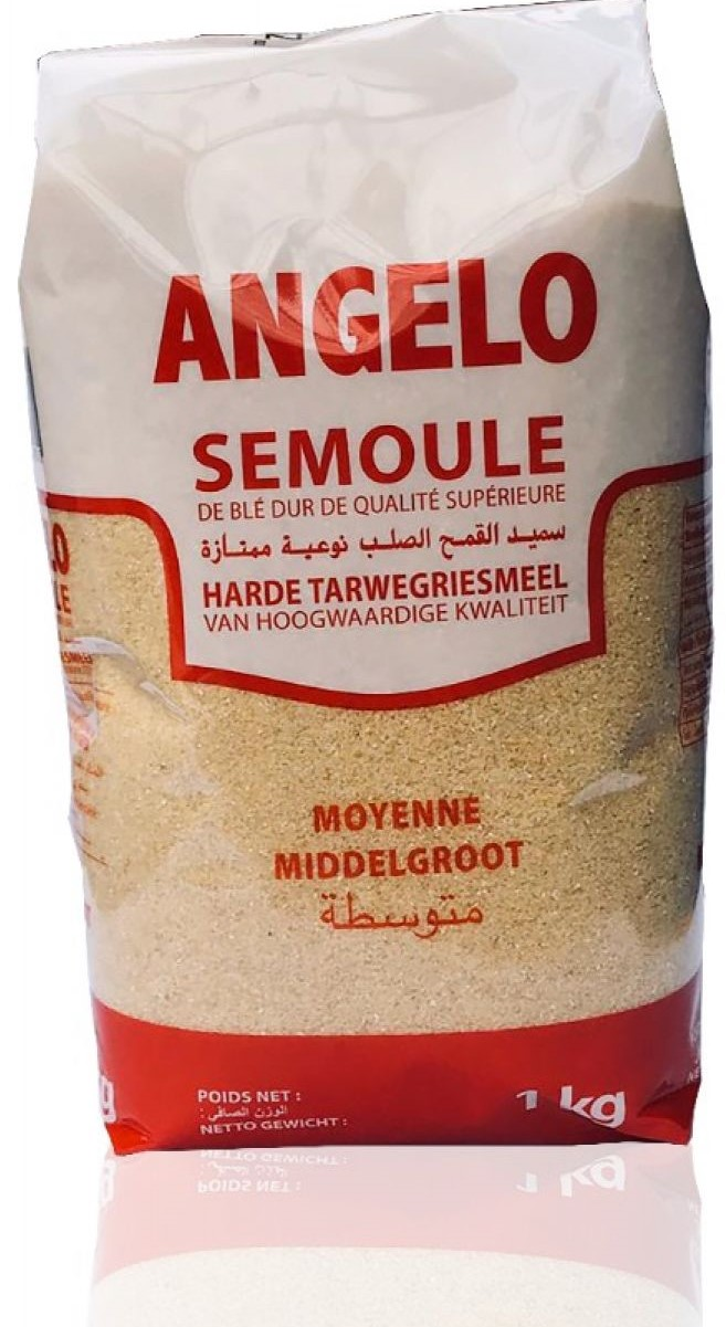 ANGELO Hartweizengriessmehl 1kg   سميد وسط أنجيلو