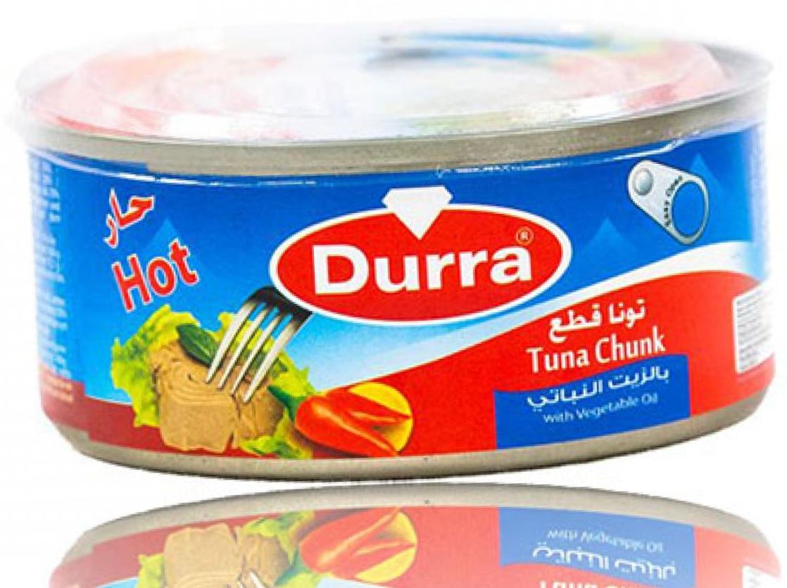 Durra Thunfisch in Pflanzenöl Scharf 160g تونا بالزيت  النباتي حر الدرة