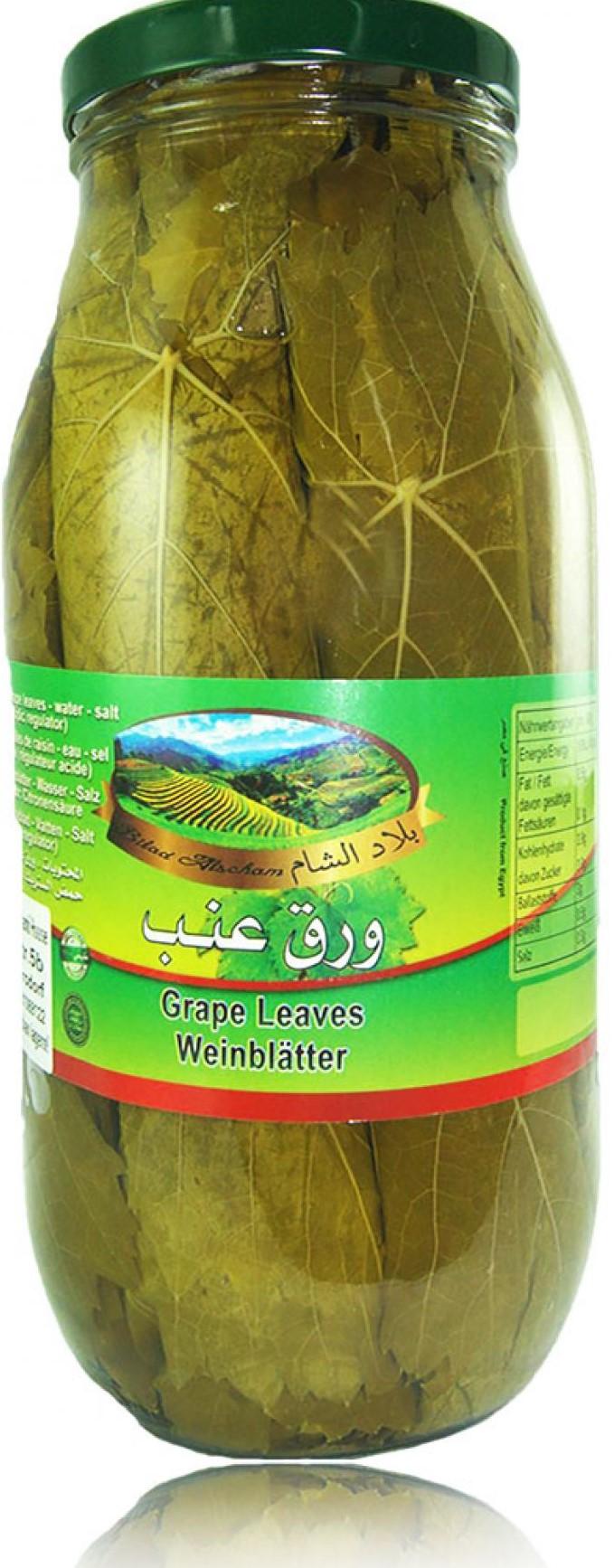 Bilad Alscham Eingelegte Weinblätter 2,8kg كبيس ورق عريش  بلاد الشام