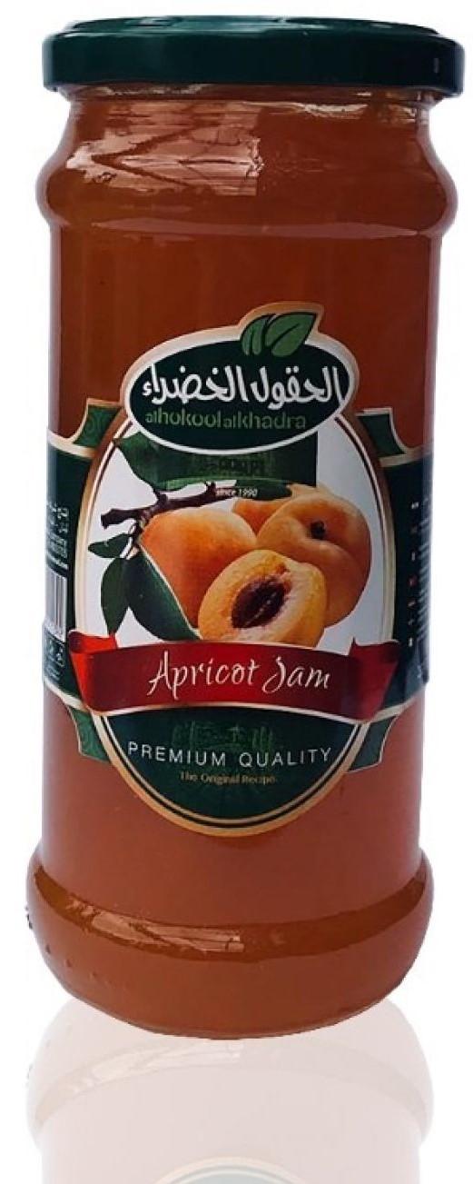 Al Hokool Al Khadraa Aprikosen Marmelade  450g مربي المشمش الحقول الخضراء
