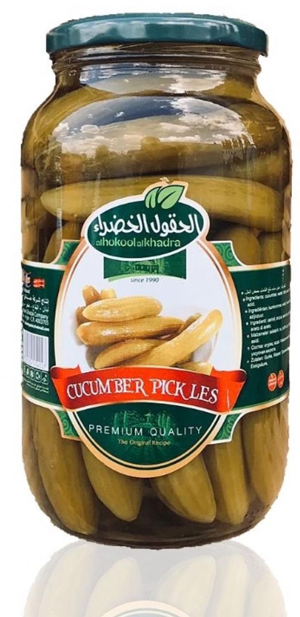 Al Hokool Al Khadra Eingelegte gurken 640g  مخلل خيار الحقول الخضراء