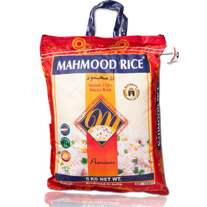 Mahmoud Basmati Reis Stoffbeutel 5kg   أرز بسمتي محمود