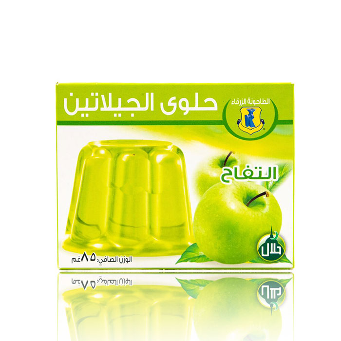 Jello Apfelgeschmack 85g  جلو نكهة تفاح الطاحونة  الزرقاء
