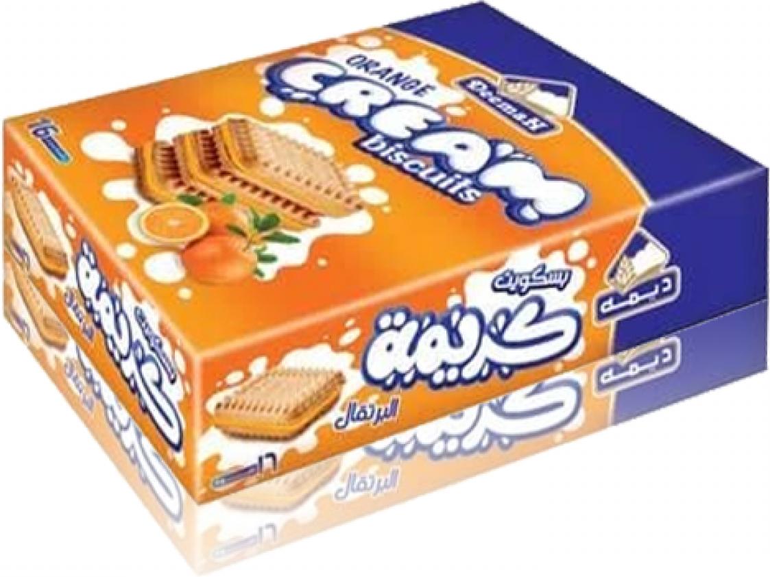 Deemah Kekse Orange 16x25g  400g  بسكوت ديمه برتقال