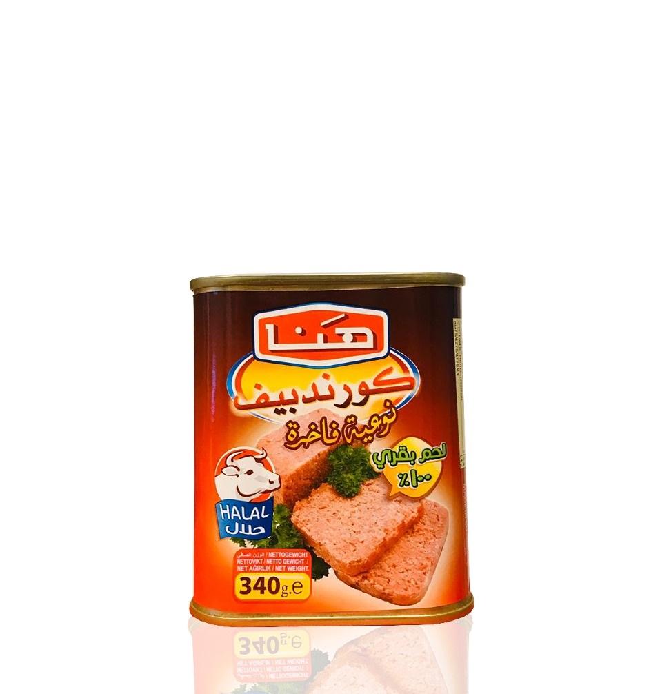 Hana Corned Beef 340g   كورند بيف الهنا