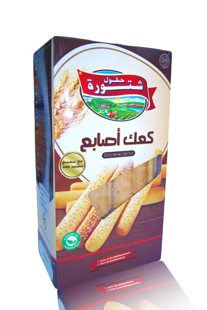 Chtoura Field Zwieback(Kaak)Lebanon 350g كعك  شاي بالسمسم حقول شتورة