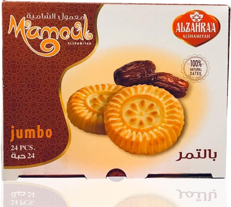 Alzahraa Maamoul  gefüllt mit Datteln Jumbo 24x35g  840g معمول بالتمر الزهراء