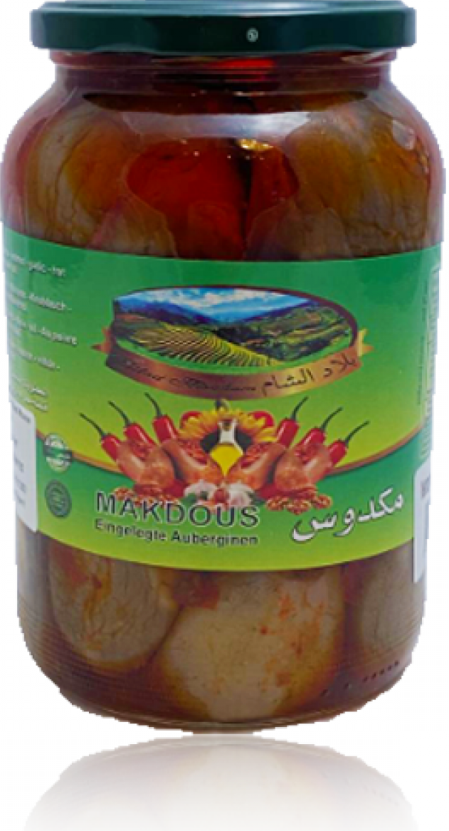Bilad Alscham Eing. Auberginien (Makdus) 1kg مكدوس بلاد الشام