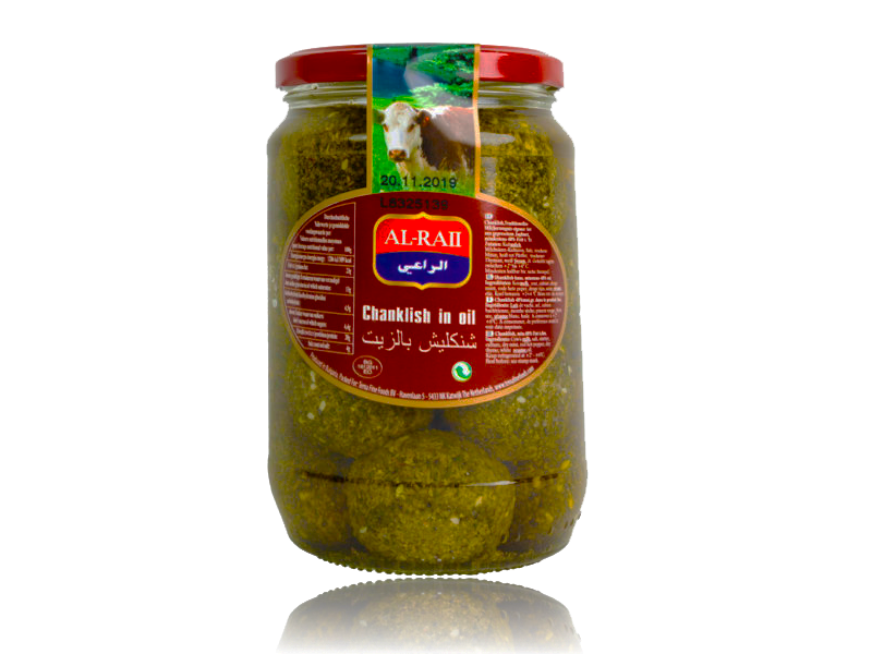 Al Raii, Shanklish Jars, Cheese, Bulgaria, 12x425g  شنكليش بالزيت الراعي