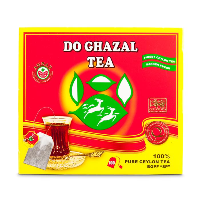 Do Ghazal Schwar Tee Ceylon Beutel Tee (Rot)100x2g 200g  شاي سيلاني أسود دوغزال