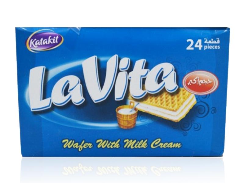 Katakit Lavita milk Cream-Kekse 24 Stück