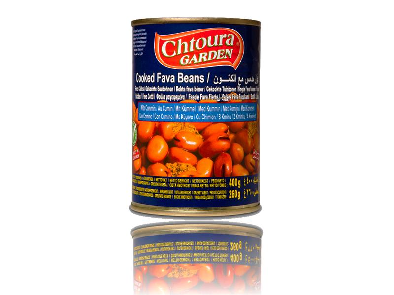 Chtoura Garden Fava Beans Foul Kümmel  400g  فول مع كمون حدائق شتورة