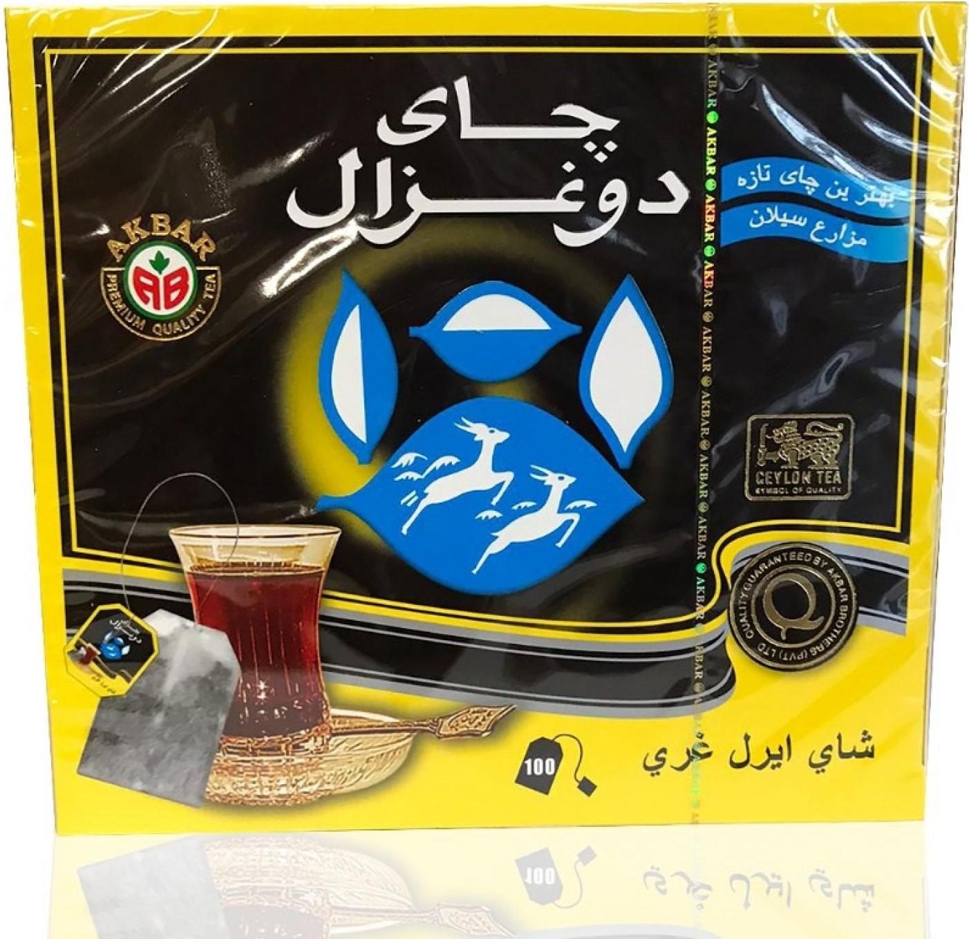 Do Ghazal Schwarz Tee Ceylon/Earlgray Aroma/Sri Lanka(Schwarzer)100*2g/200g  شاي اسود معطر دو غزال