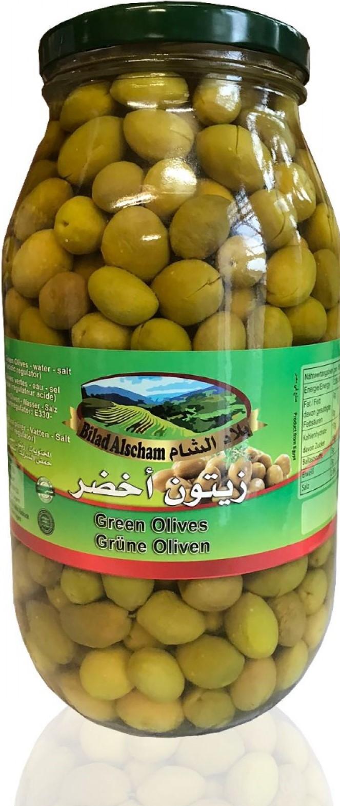 Bilad Alscham Grüne Oliven 2750g  زيتون اخضر بلاد الشام
