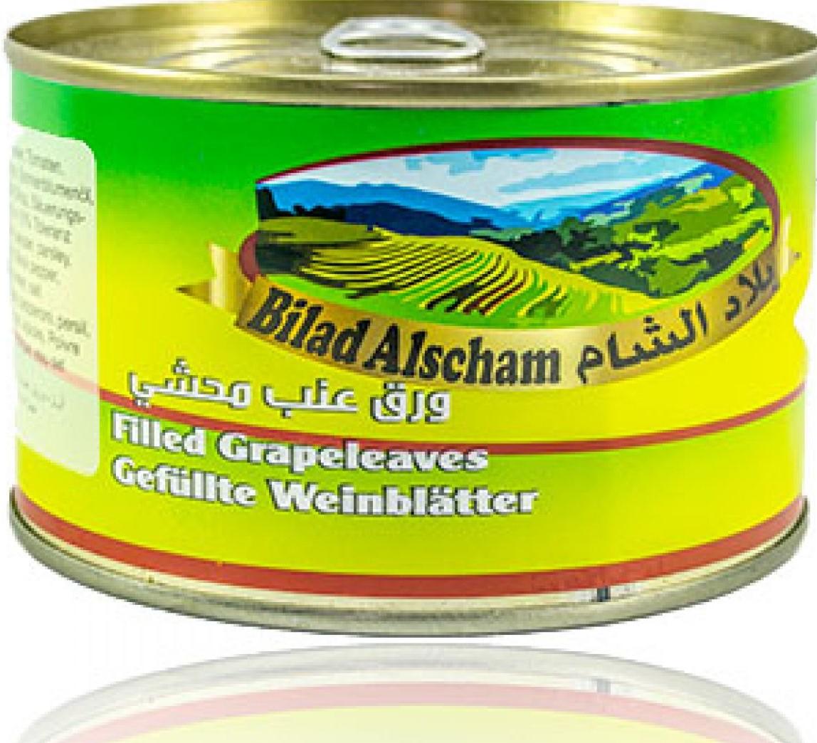 Bilad Alscham gefüllte Weinblätter(Dolmas) 400g  ورق عريش جاهز يلنجي بلاد الشام