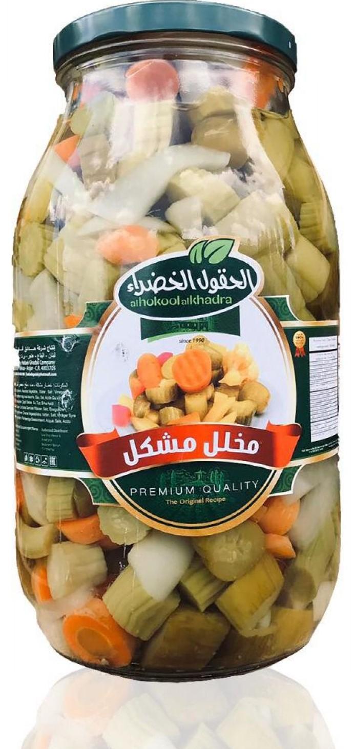 Al Hokool Al Khadra Eingelegtes Gemüse Mix (gemischt) 2,8Kg  كبيس مشكل الحقول الخضراء
