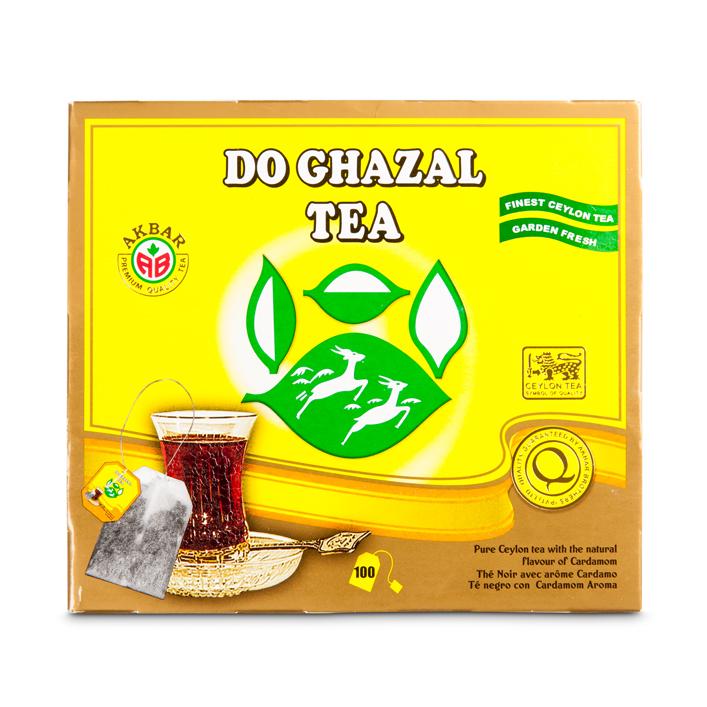 Do Ghazal Schwar Tee/Cardamom/Gelb/Sri Lanka 100x2g /200g  شاي بالهيل ظروفة  دوغزال