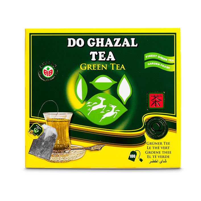 Do Ghazal Tee Grün 100*2g  شاي أخضر ظروفة  دوغزال
