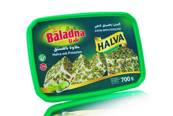 Baladna Halwa MIt Pistazien 700g حلاوة بالفستق بلدنا