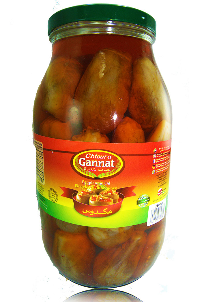 Gannat Chtoura Eingelegte Auberginien (Makdous) 3,2kg مكدوس جنات شتورة