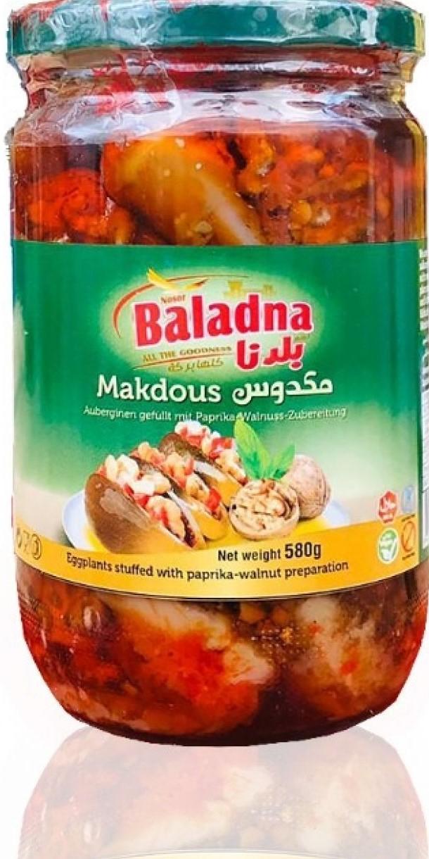 Baladna Eingelegte Auberginien (Makdous) 580g مكدوس بلدنا
